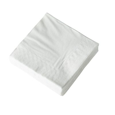 White Napkins 2 ply 33 cm squared (Box of 2000)