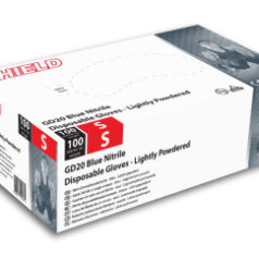 Blue Nitrile Gloves - Powdered (box of 100)