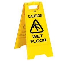 Wet Floor Sign - A Frame