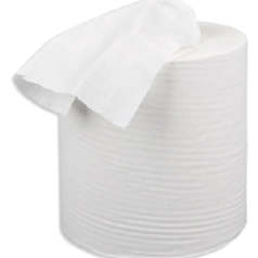 White Centrefeed Wiping Rolls 6 x 150m 2ply