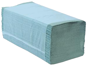Green Interfold Hand Towels 1ply (Case of 3,600)